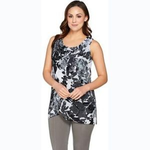 H by Halston Floral Sleeveless Top